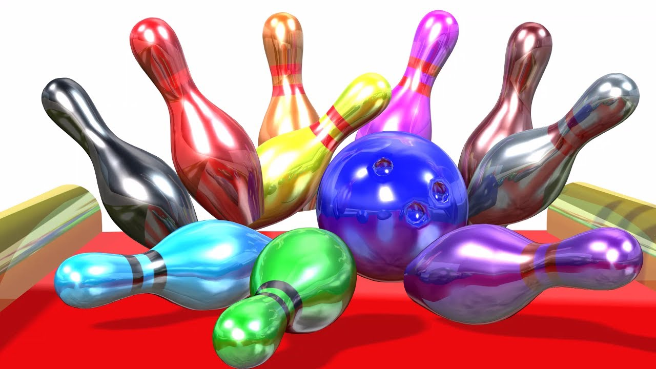 Learn Colors And Numbers For Children With 3d Bowling Game