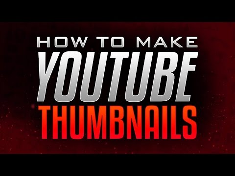 How to Make Thumbnails for YouTube Videos! Photoshop Thumbnail ...