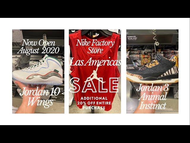 Gran cantidad Clásico notificación  Nike Factory Store Las America's August Visit - 20% Entire Purchase plus  bonus % if Nike App Members - YouTube