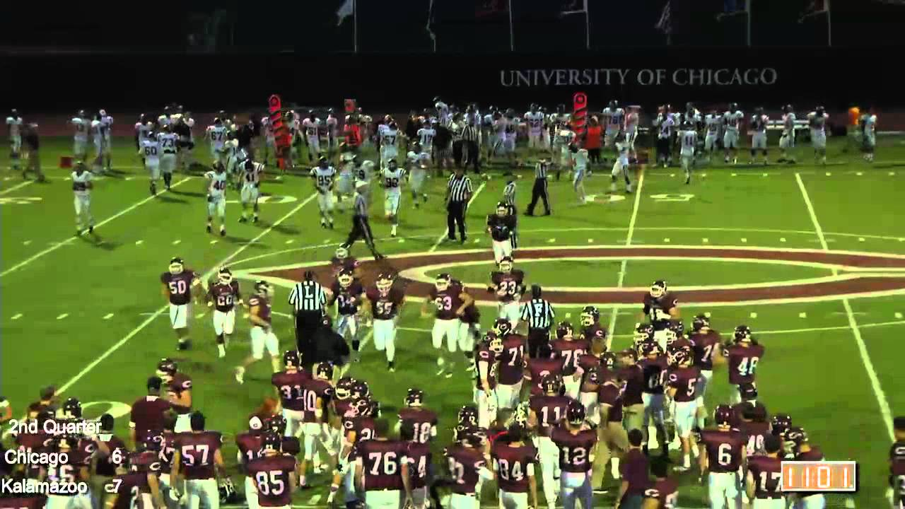 UChicago Maroons vs. Kalamazoo Hornets Football Highlights ...