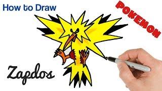 How to Draw Zapdos Pokemon Easy