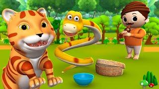 Snake and Cat Friendship Story - घमंडी साँप और बिल्ली की दोस्ती हिन्दी कहानी 3D Kids Moral Stories