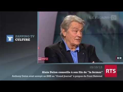 """FN : Alain Delon conseille à son fils de """"la fermer""""de YouTube · Durée:  57 secondes"""