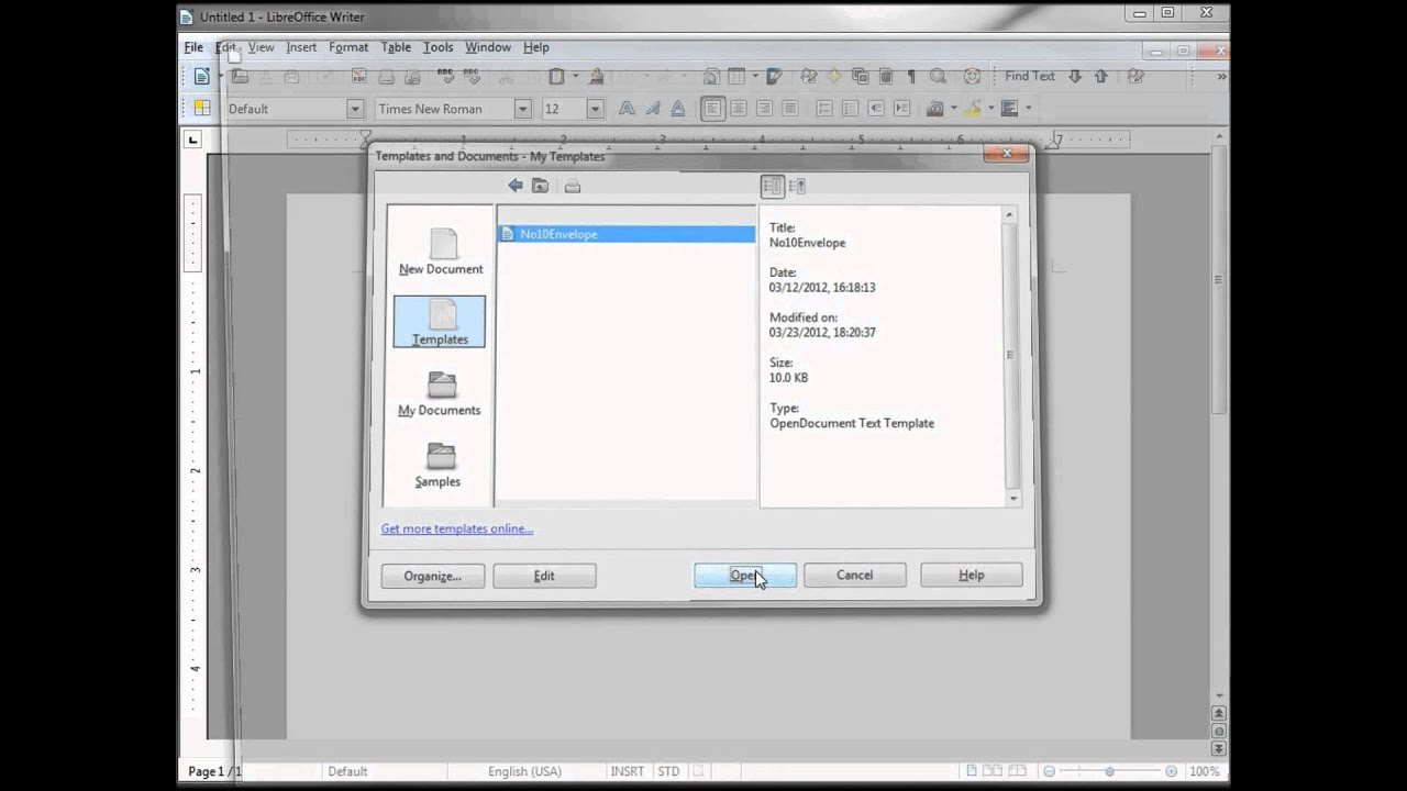 Libreoffice Writer 61 Introduction To Templates