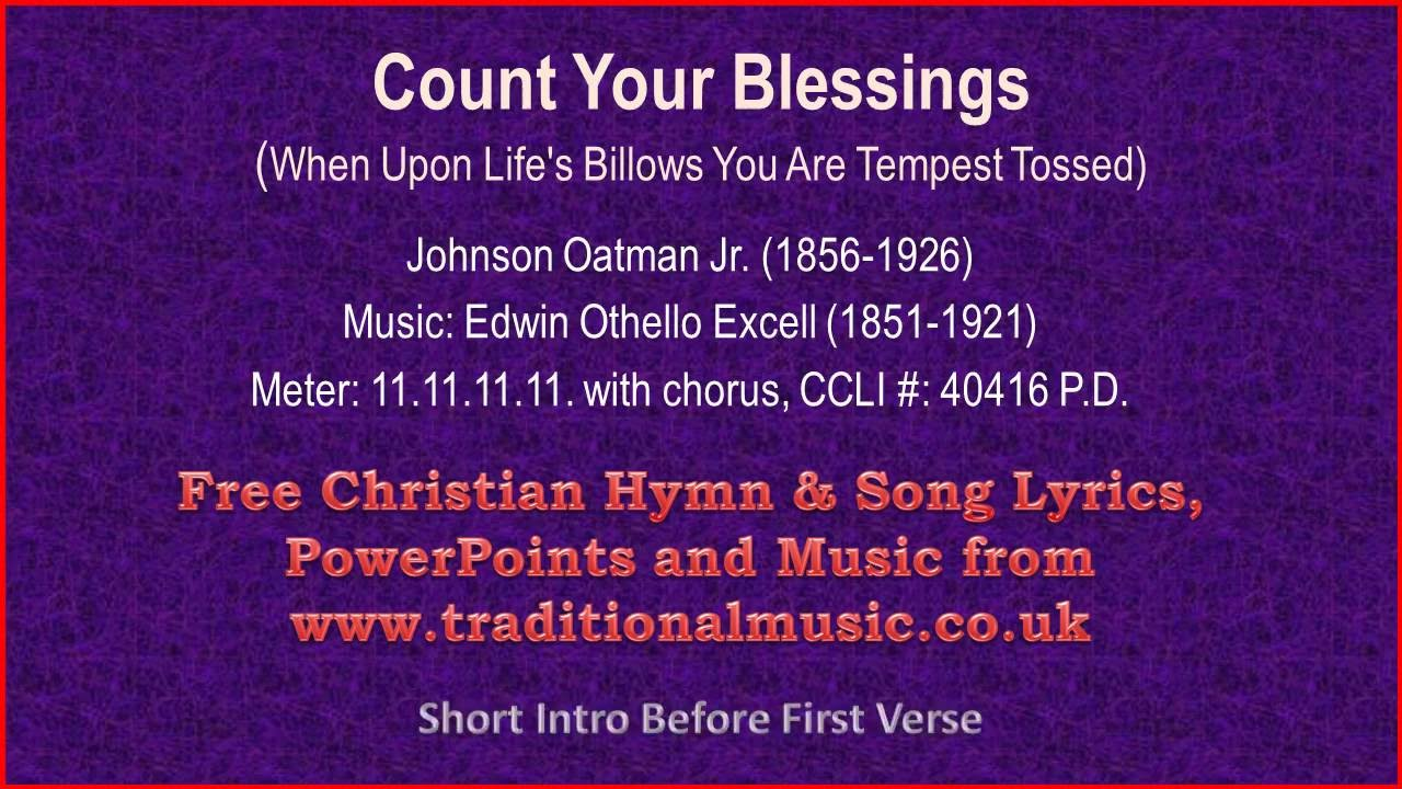 Count Your Blessings[When Upon Lifes Billows](viola section) - Hymn Lyrics  & Music