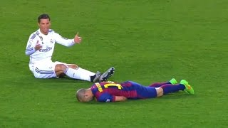 El Clásico ● Fights, Fouls, Dives & Red Cards