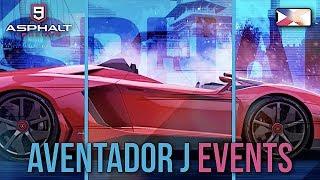 ASPHALT 9: LEGENDS - Lamborghin Aventador J Events - Trial, Unleashed, Contest