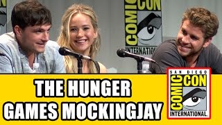 The Hunger Games Mockingjay Part 2 Comic Con Panel - Jennifer Lawrence, Josh Hutcherson & cast