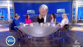 Jenna Bush Hager & Barbara Bush -  Proud Of Dad's Speech On TRUMP (The View)