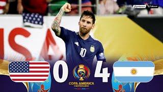 USA 0 x 4 Argeฑtina ● 2016 Copa América Semifinal Extended Goals & Highlights HD