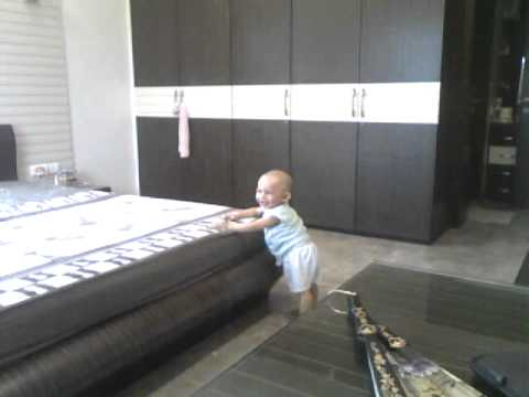 Baby Getting Off The Bed