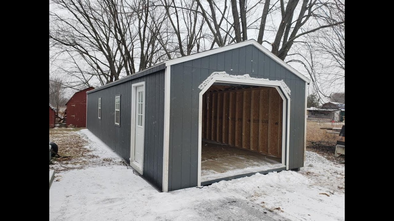12 foot wide garage door12 X 20 WOODEN PORTABLE GARAGE  SHEDS  GARDEN SHEDS  SHEDS