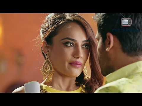 Surbhi Jyoti hot edit #1 - super romance navel touch - expressions- yellow dress thumbnail