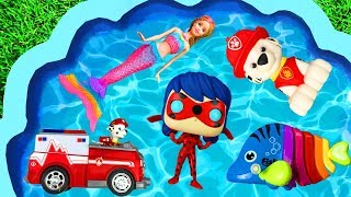 Learning Characters with Barbie, Paw Patrol, Pj Masks, Toys, Animals and Super Heroes