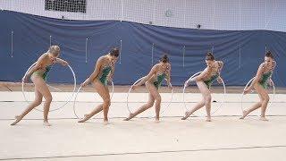 Команда Кстово (КМС) Обручи Первенство г.Кстово по Художественной Гимнастике 2018
