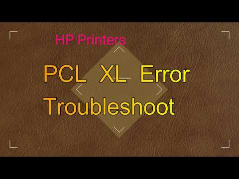 How to Fix PCL XL Error in HP Printers - YouTube