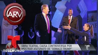 Polémica por obra cuyo personaje se asemeja a Trump | Al Rojo Vivo | Telemundo