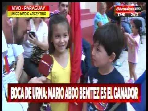 Elecciones en Paraguay: Boca de urna da ganador a Marito Abdo