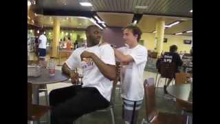 Surprise Prank!  This Dude Massages a Stranger.  Hilarious Reaction!