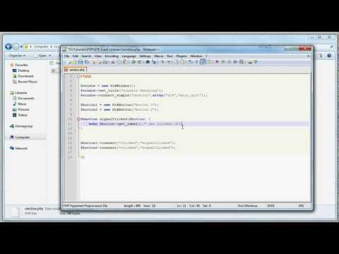 PHP Tutorial: PHP-GTK Signal Handling - Click Event