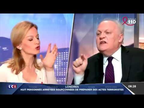 François Asselineau évite les pièges d'une propagandiste écervelé sur LCI (24/03/17)