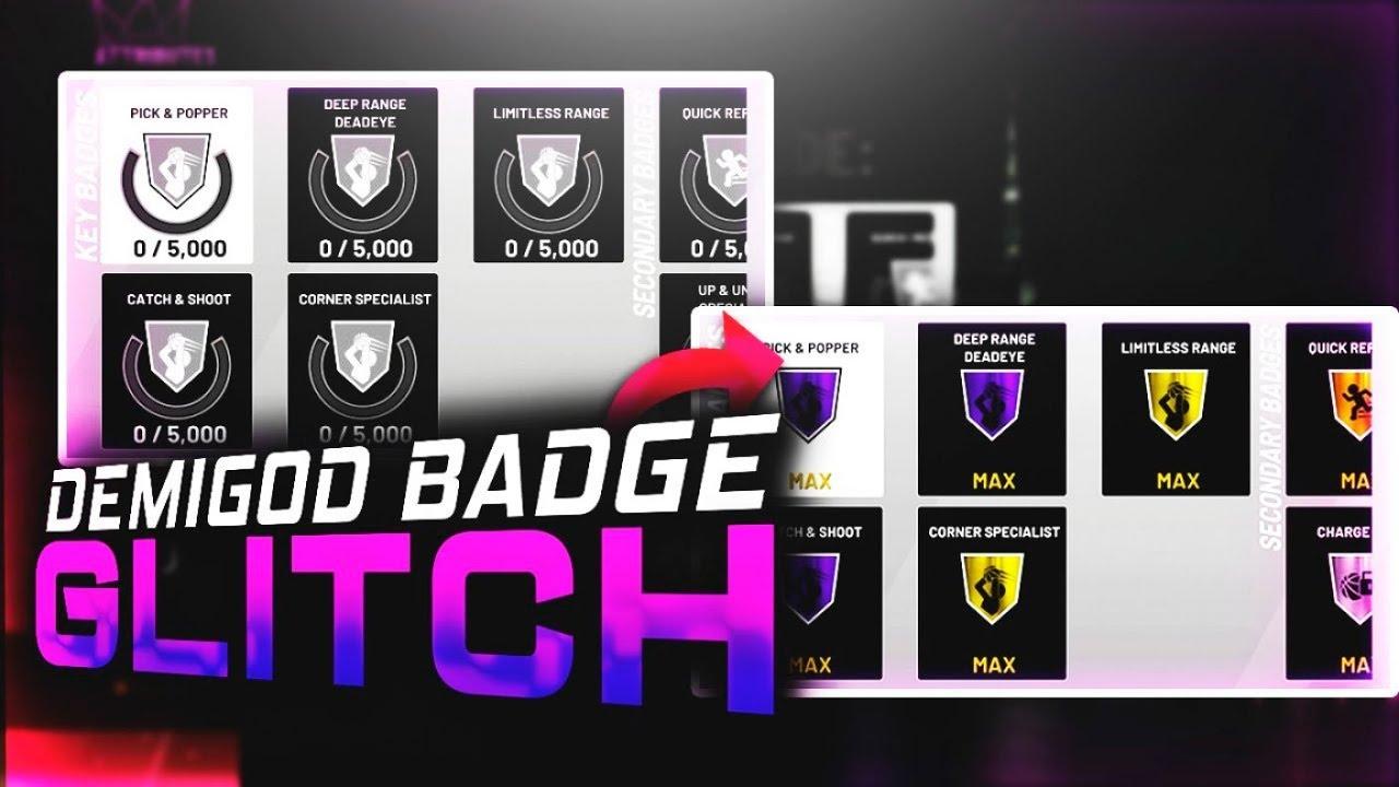 NBA2K19 BADGE GLITCH INSTANT MAX BADGES!