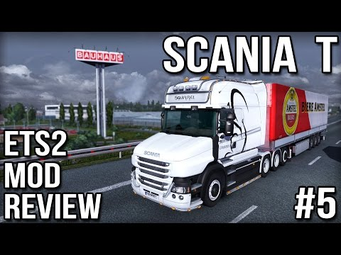 ETS2 Mod Reviews #5 - Scania T: Reviewing the highly customisable Scania T mod by RJL. This quality mod features multiple cabin, chassis and engine options as well as side skirts, wheel arch covers, headlight styles and tons of attachment points for lighting. Well worth a look.  BUY GAMES legally and securely ► http://bit.ly/2e24Viw  Second Channel ► http://youtube.com/squirrelplus  Squirrel Branded PCs! ► http://pc.squirrel.tv My Gaming Equipment ► http://specs.squirrel.tv ASUS peripherals at Amazon ► http://amzn.to/2d3IZpn  ETS 2 Mod Reviews playlist ► http://bit.ly/1t57yAS  My ETS2 Mods including the Scania T ► http://bit.ly/1yK2pym  MODS DISCLAIMER ================ Mods can change the save-game files making them hard to remove and possibly causes game crashes. Ensure you have read any readme file provided by the mod author and followed any installation guide provided. If you choose to install mods then you do so at your own risk. I accept no responsibility and cannot offer any support.   ► Subscribe: http://bit.ly/1rCDHB0 ► Official Website: http://squirrel.tv ► Mailbox: mailbox@squirrel.tv ► Twitch Livestreams: http://www.twitch.tv/squirrel ► Facebook Page: http://facebook.com/SQRLTV ► Twitter: https://twitter.com/SQRLTV  Music used with permission: Machinima Sound