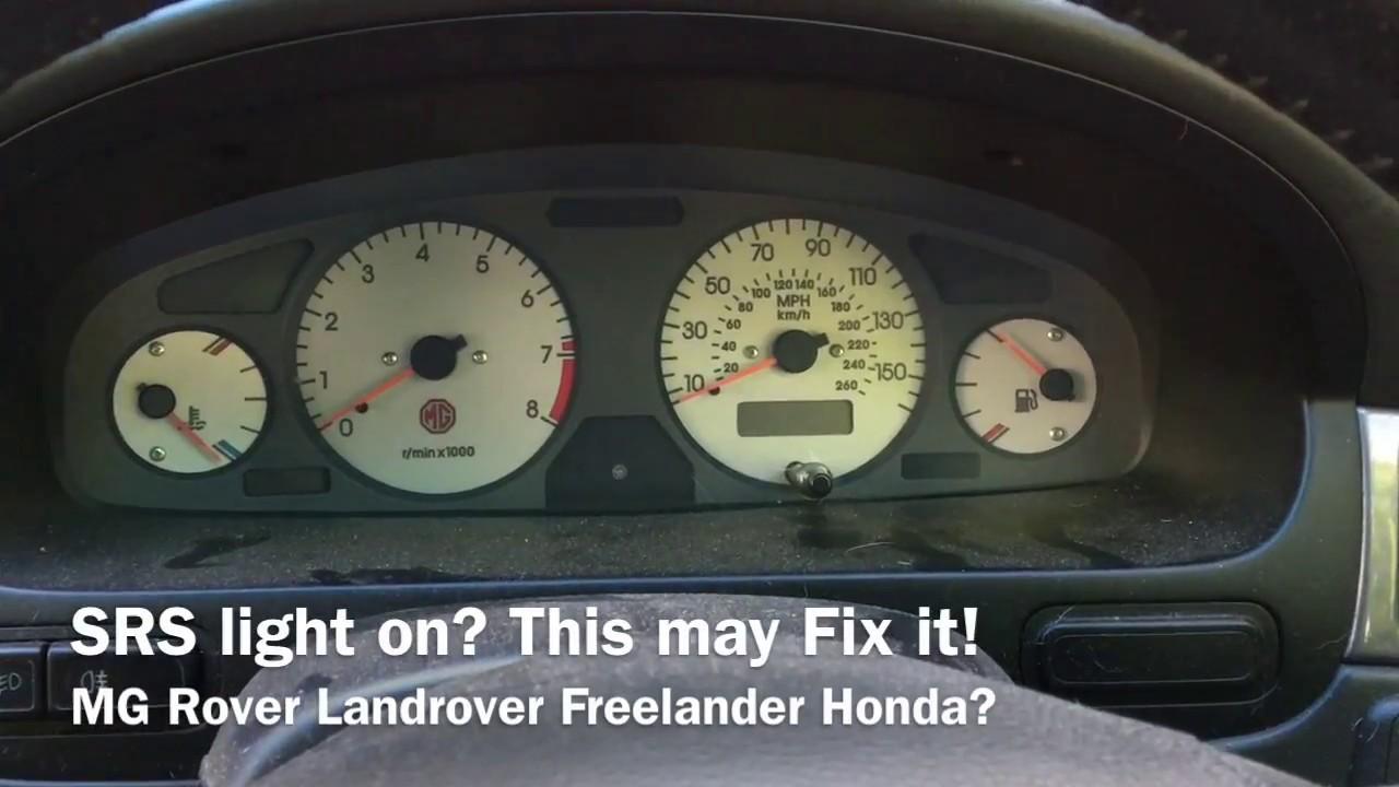Srs Light On This May Fix It Mg Rover Landrover Freelander Honda 214 Fuse Box