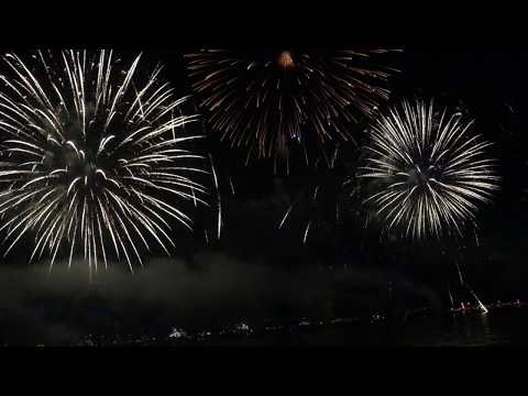 Festival of pyrotechnic art in Cannes - Canada (13 July 2017)