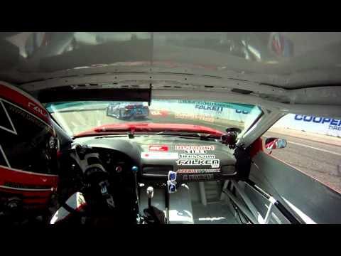 "Dai Yoshihara VS Aurimas ""Odi"" Bakchis On-board Cam Formula Drift Long Beach 2011 Top 32"