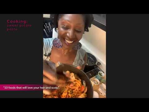 Cooking: Sweet Potato pasta - Chef Angelia