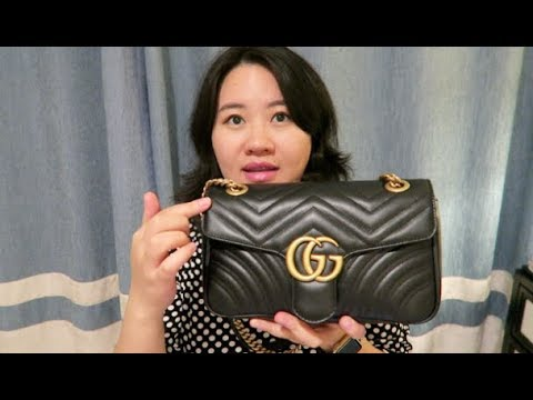 3b6b822c507 Gucci Marmont Flap Bag Review - YouTube