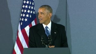 Obama speaks after Trump inauguration