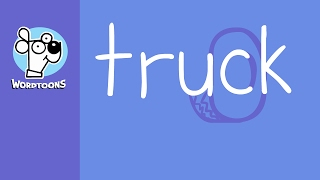 The Word Truck Into A Truck  ( Wordtoon Truck )
