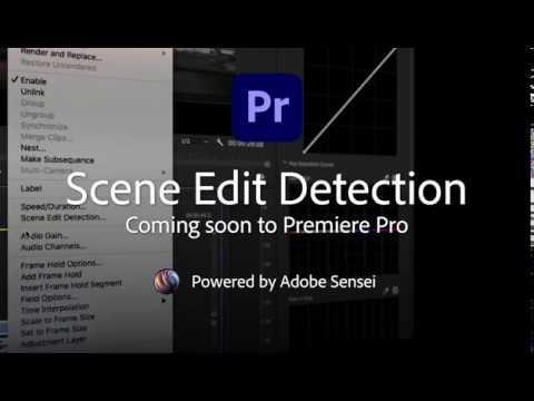 Coming Soon to Premiere Pro - Scene Edit Detection | Adobe Creative Cloud