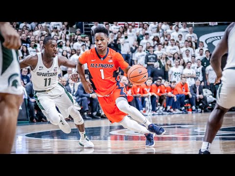 Illinois Men's Basketball Highlights at #2 Michigan State 2/20/18