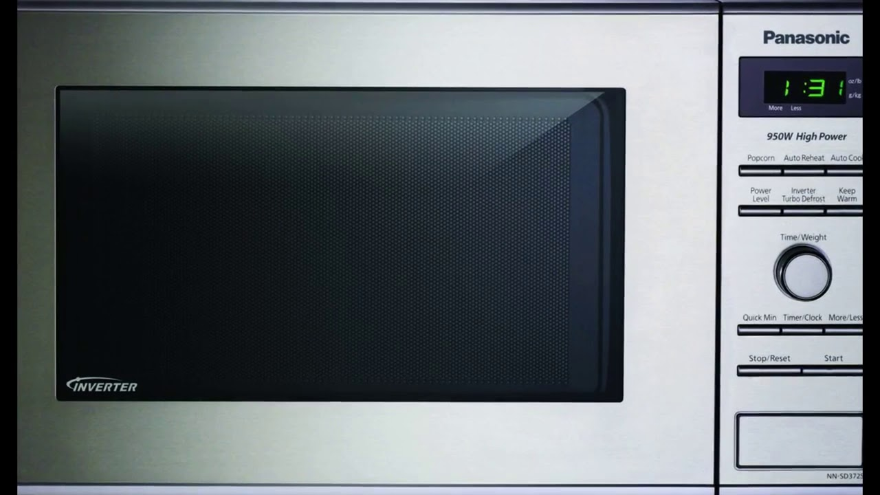 Panasonic Nn Sd372s Stainless 950w 0 8 Cu Ft Countertop Microwave With Inverter Technology Youtube