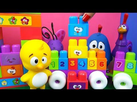 Galinha Pintadinha Brincando e Aprendendo a Contar Com Blocos Fun Toy Cake Tia Fla