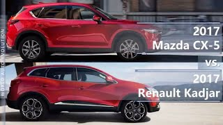 2017 Mazda CX-5 vs 2017 Renault Kadjar (technical comparison)