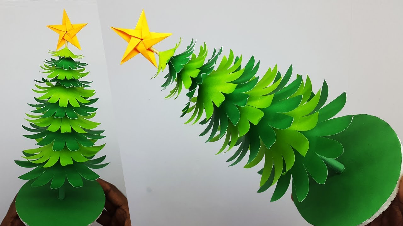 3D Paper Christmas Tree DIY Tutorial   How to Make a Paper ...