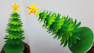 3D Paper Christmas Tree DIY Tutorial | How to Make a Paper Xmas Tree