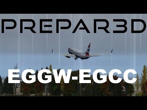 Prepar3d - EGGW to EGCC - Part 3 - FIRE!