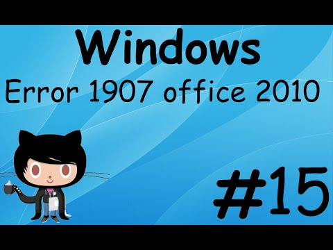 Error 1907 office 2010