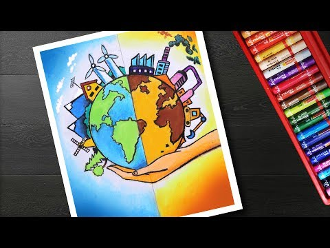 How to Draw Energy Conservation Drawing and painting