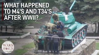 What Happened to All of the M4 Shermans and T-34 Tanks after World War II?