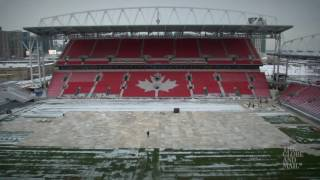 Timelapse: BMO Field transformed for three sports over 36 days