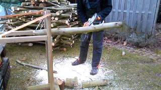 Firewood Log Holder Diy Brandhout Zaagbok