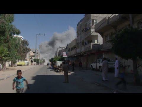 RAW: Moment Israeli airstrike smashes house in Gaza