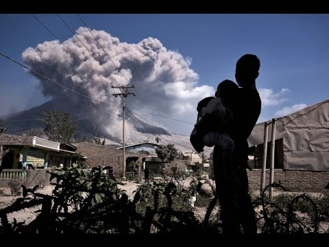 The Indonesian Twin eruptions 2014 Mount Sinabung Sumatra and Mount Kelud Java HD Photo