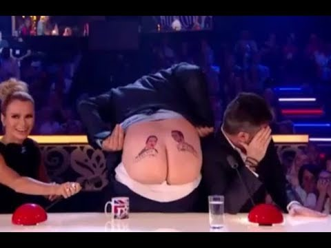 David Williams Exposes His ASS To Simon Cowell On LIVE TV! Britain's Got Talent 2017
